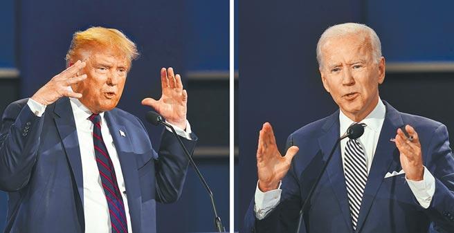 美國總統大選,川普(見圖)與拜登最後一次辯論會,將在美東時間22日晚間9時登場,川普與拜登將如何過招,再度受到關注。 (美聯社)