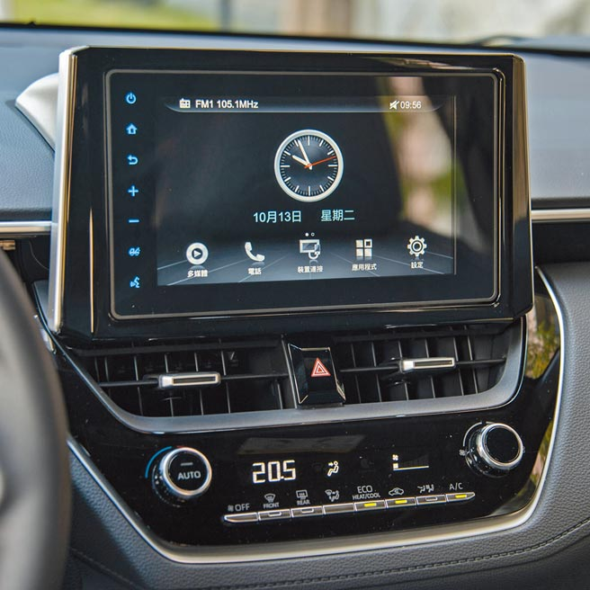 TOYOTA Drive+ Connect智聯車載系統。(陳大任攝)