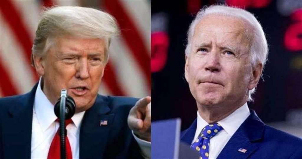美國大選進入倒數計時。圖為美國總統川普(左)和民主黨競選對手拜登(右)。(圖/達志/美聯社)