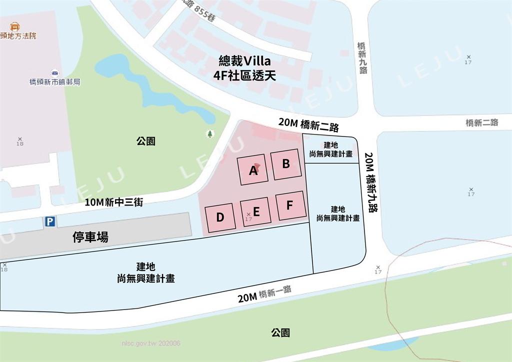 欣橋之心地域圖