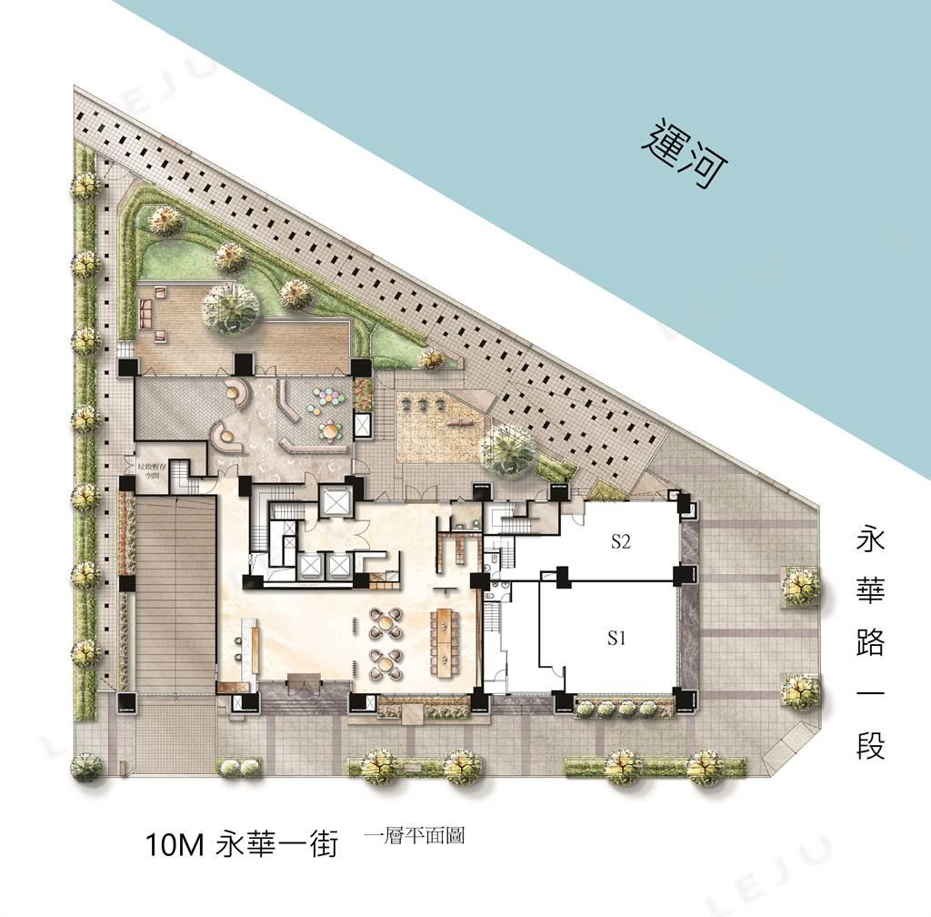 鑫左岸一樓平面圖
