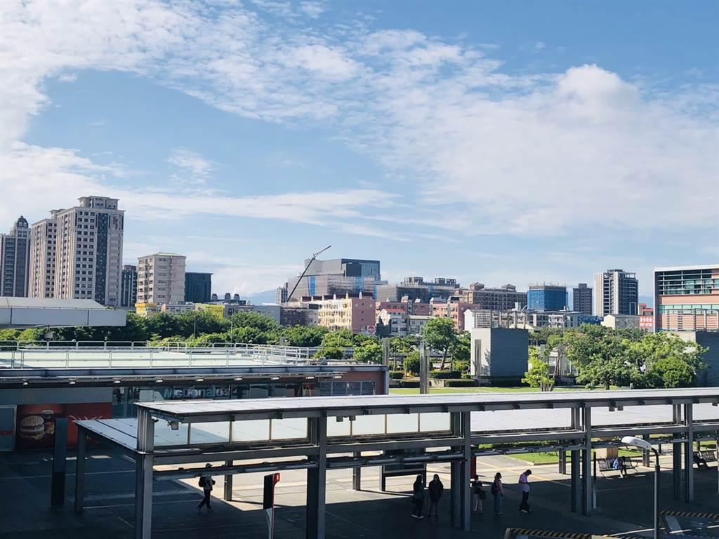 桃園各項利多吸引指標建商搶進,圖為桃園高鐵特區鳥瞰。(台灣房屋提供)