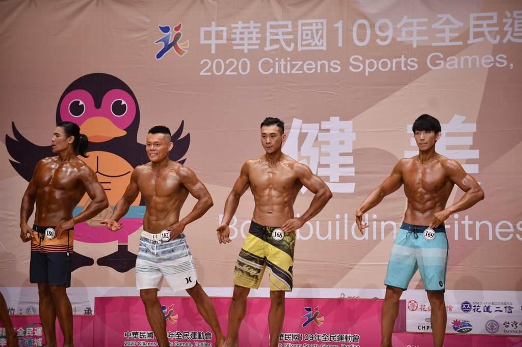 男子形體組,各級賽事激烈。(王志偉攝)