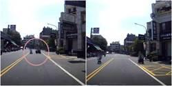 孩童馬路學「騎腳踏車」媽陪逆向跨雙黃線 畫面曝光引撻伐