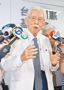制憲公投遭駁回 辜寬敏揚言退黨