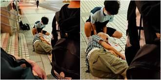 捷運站助老翁止血丹鳳高中生曝光 他哽咽憶:想起過世的爺爺