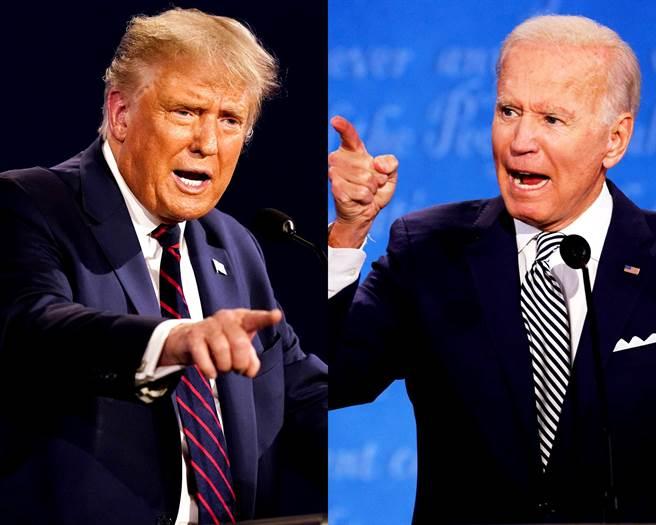 為了避免首場辯論會上川普、拜登互相插嘴、鬧哄哄的慘劇重演,終場辯論上兩位候選人的麥克風將被暫時消音。(圖/美聯社、路透社)