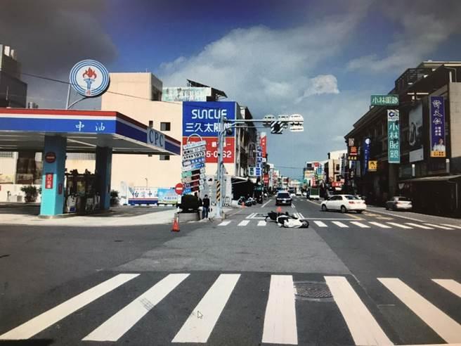 歸仁警分局今天公布10大閃光號誌路口易肇事地點。(歸仁警分局提供/曹婷婷台南傳真)