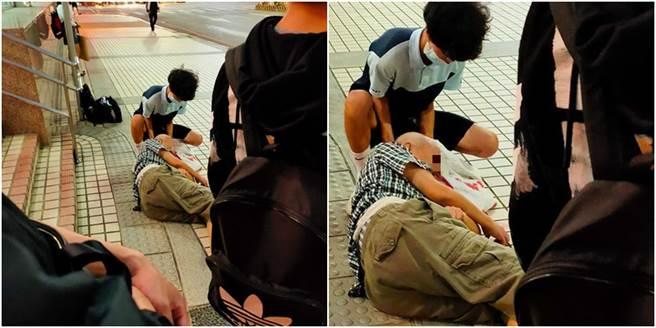 丹鳳高中生蕭子秦昨日見義勇為助老爺爺的事蹟,獲得網友高度讚賞,而校方表示,將於近日於晨會中表揚他。(圖/翻攝自愛新莊我是新莊人)