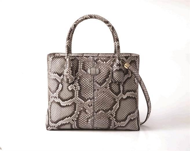 SOGO敦化館全球獨家系列TOD'S D BAG花紋蛇皮手提包,14萬5400元。(SOGO提供)