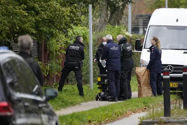 警方封鎖監獄外圍,調查馬德森的逃獄路線。(圖/美聯社)