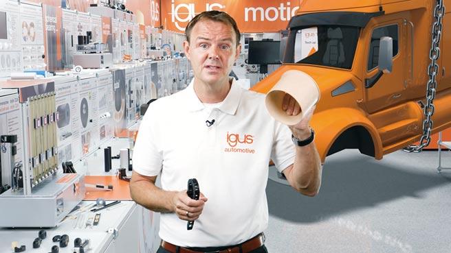 在9月22日的現場直播中,易格斯專家展示了用於多功能車的新型動態工程塑膠產品如何提高技術性能並降低成本。圖/igus GmbH提供