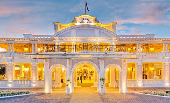 我駐斐濟代表處8日在該國五星級酒店Grand pacific hotel Suva 舉辦國慶酒會,場外卻遭大陸外交人員騷擾。(摘自酒店官網)