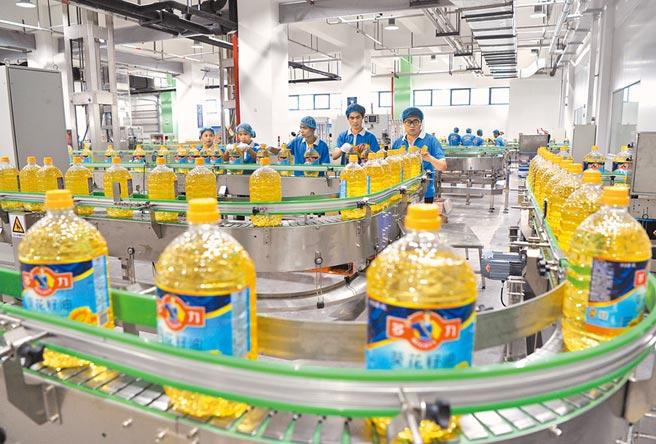 台商成夾心餅乾,但台商對兩岸經濟的貢獻不容抹煞,圖為台灣佳格廈門葵花油廠。(中新社)