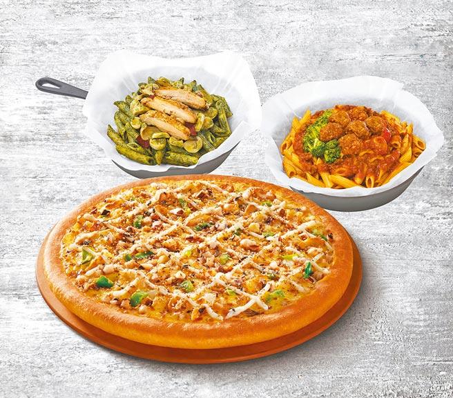 必勝客成立「Pasta Hut」搶攻義大利麵市場,個人餐單點169元起。(必勝客提供)