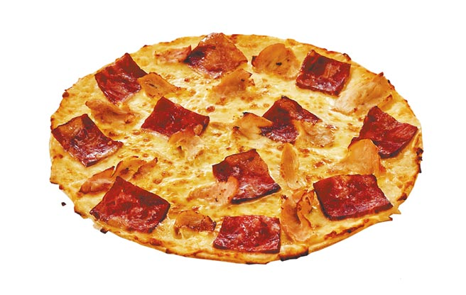達美樂雞豬雙享花椰菜披薩,單點479元。(達美樂提供)