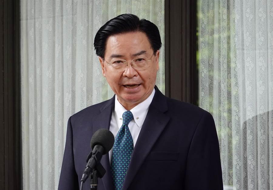 外交部長吳釗燮20日在立法院受訪。(姚志平攝)