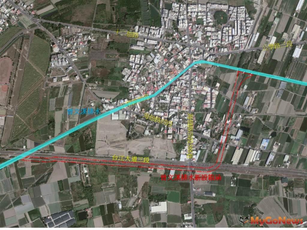 安南區曾文溪排水支線十二佃箱涵辦理都市計畫變更,減少地方水患風險(圖:台南市政府)