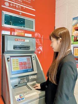 台中銀ATM新介面 親民更便利