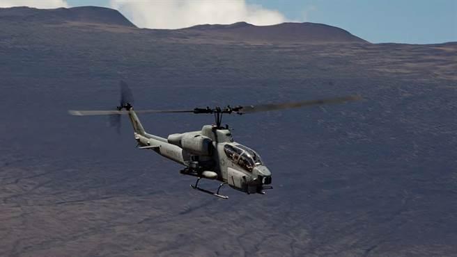 美國海軍陸戰隊的AH-1W超級眼鏡蛇。(圖/US MARINE)