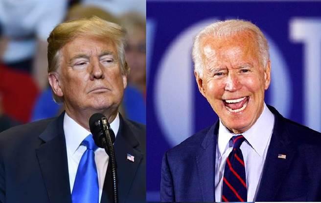 美國總統川普(左)、民主黨競選對手拜登。(合成圖/達志影像、路透社)