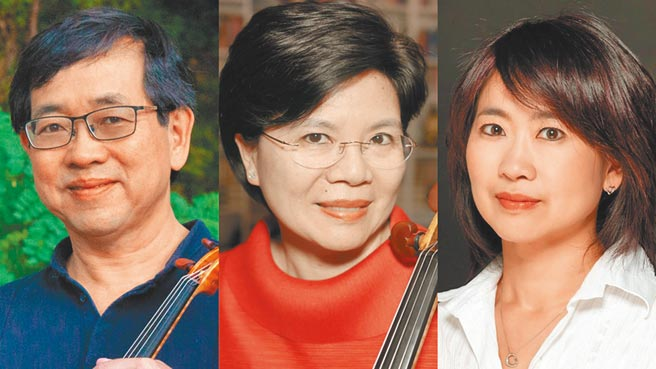 旅美小提琴家辛明峰(左)與胞妹鋼琴家辛幸純(右),將與旅瑞大提琴家簡碧青(中)首度合作室內樂。圖/業者提供