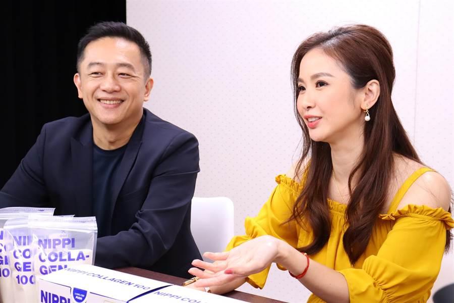 陈昭荣昨晚上陈小菁脸书直播。(翰成数位提供)