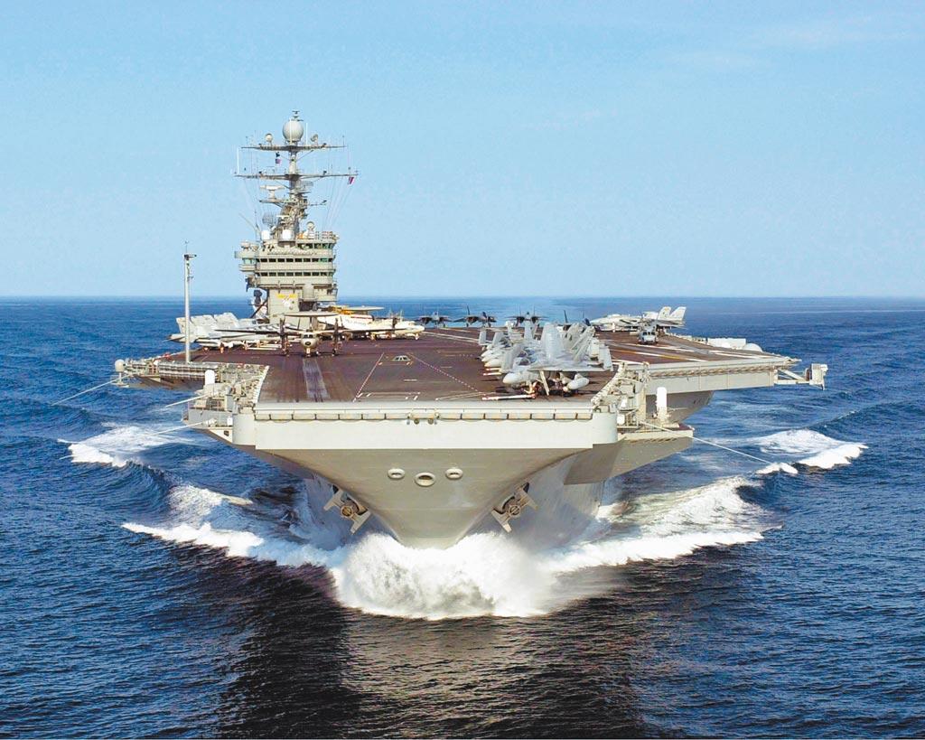 美軍福特級核動力航母。(取自美國海軍官網)
