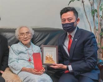 重陽將至 林智堅拜訪104歲醫師奶奶討教保養祕訣