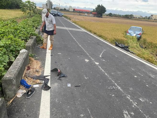 警方說,雙方行經路口都未注意車前狀況,也沒有減速,才會造成碰撞。(民眾提供/吳建輝彰化傳真)