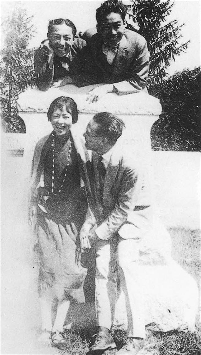 林徽音與丈夫和友人出遊時所攝。(圖/左岸文化提供)