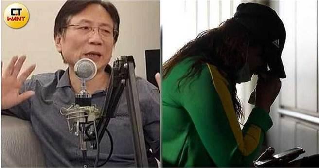 W女在友人的陪同下到永和分局報案,對議員詹江村提告性侵。(圖/CTWANT提供)
