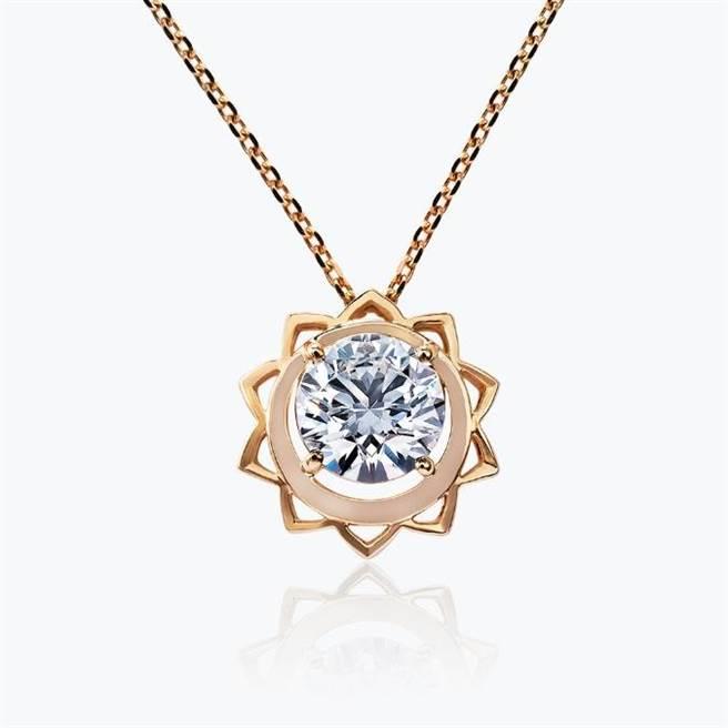 JOY COLORi「閃耀」鑽石鍊墜,主石為0.76克拉鑽石,8萬8000元。(JOY COLORi提供)