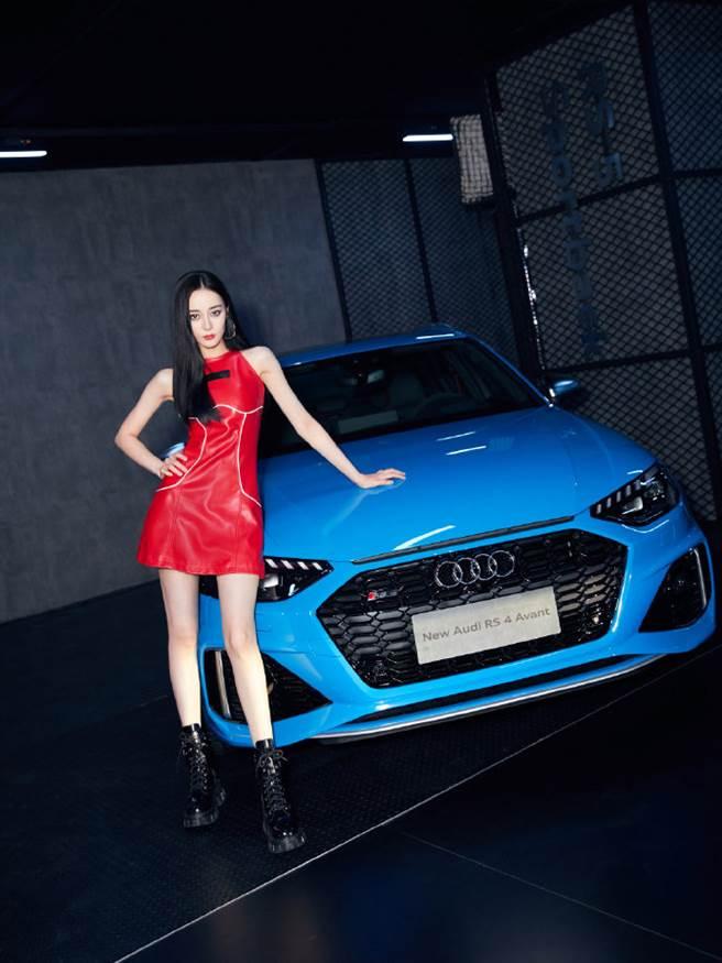迪麗熱巴近日受邀擔任汽車品牌形象大使。(取自奧迪官方微博)
