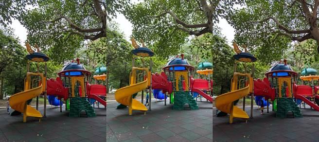 Pixel 4a 5G(左)、iPhone 11 Pro Max(中)以及Pixel 5日間實拍對比(3)。(黃慧雯攝)
