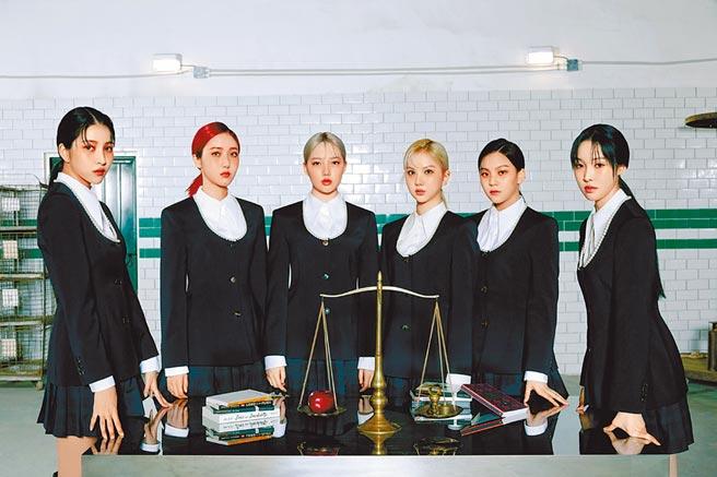 GFRIEND所願(左起)、信飛、睿隣、銀河、嚴智、裕株將於月底透過螢幕與台灣粉絲見面。(iMe提供)