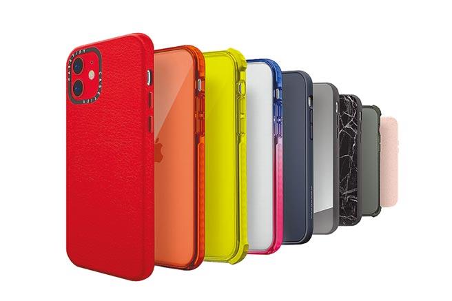 CASETiFY iPhone 12系列手機殼,提供15種歷來最豐富色彩選擇,更可搭配客製化設計。(CASETiFY提供)