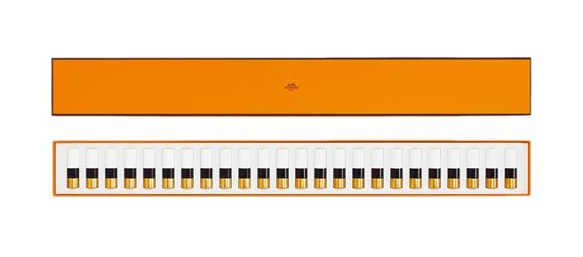 愛馬仕Rouge Hermes鋼琴24色脣彩禮盒,5萬4000元。(愛馬仕提供)