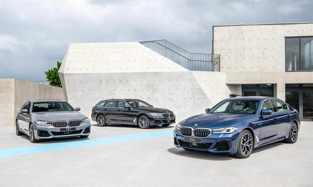 BMW小改款5系列今起進駐展間,265萬元起推出6款車型。