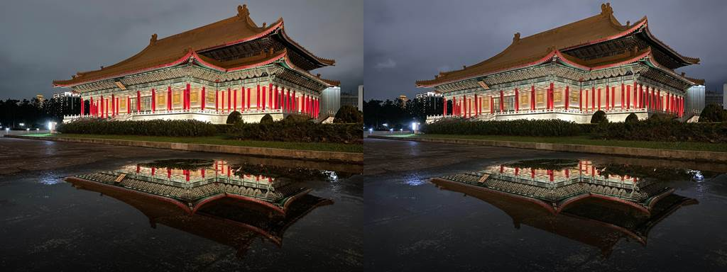 iPhone 12(左)與iPhone 11拍主鏡頭夜景模式比較(3)。(Anfernee Shih提供/黃慧雯台北傳真)
