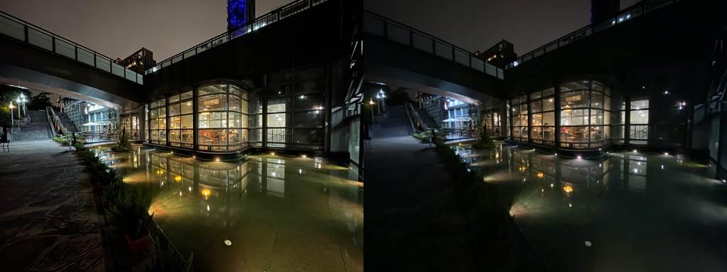 低光源下,iPhone 12(左)以及iPhone 11夜景模式比較(2)。(Anfernee Shih提供/黃慧雯台北傳真)