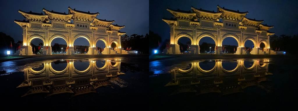 低光源下,iPhone 12(左)以及iPhone 11夜景模式比較(4)。(Anfernee Shih提供/黃慧雯台北傳真)