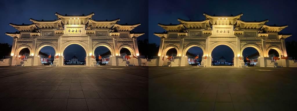 低光源下,iPhone 12(左)以及iPhone 11夜景模式比較(5)。(Anfernee Shih提供/黃慧雯台北傳真)