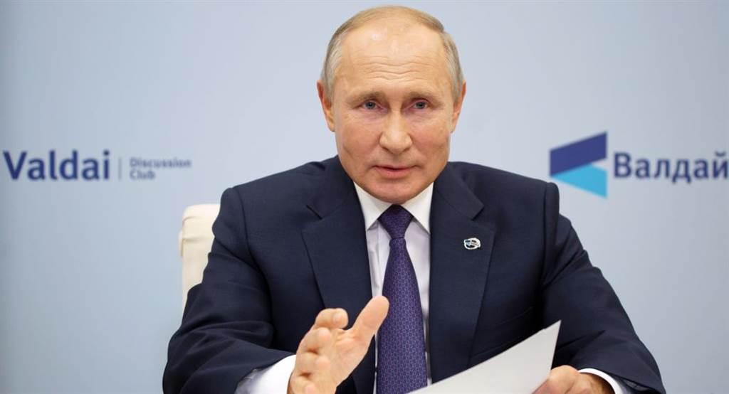 俄羅斯總統普丁表示,美俄主宰世界局勢的時代已成過去,未來是中國與德國逐漸成為新的世界強權。(圖/衛星通訊社)