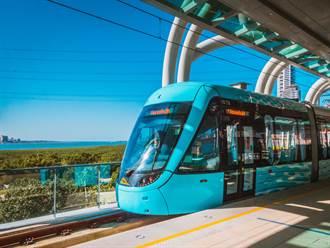 全台第一輛香氛列車在淡水 淡海輕軌「輕軌香」票選活動24日開跑