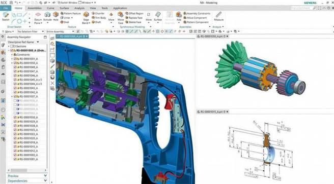 「NX Unigraphics」因功能完整且外掛程式齊全,是許多CAD工程師的愛用軟體,但正版要價高達100多萬元,拍賣網站上的盜版只需400元。(圖/翻攝自NX Unigraphics官網)