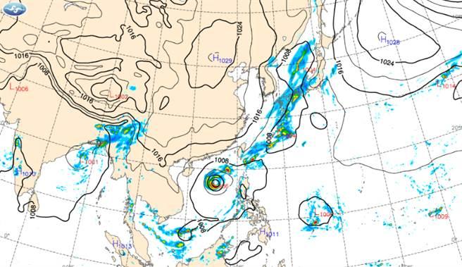 今下半天起降雨趨緩,明東北風影響,低溫下探16度。(中央氣象局提供)