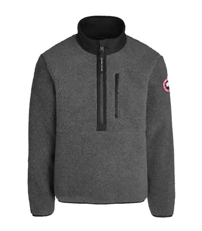 Canada Goose灰色高領刷毛外套,1萬5500元。(Canada Goose提供)