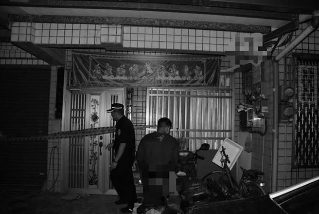 台南市佳里區一處民宅今天凌晨傳出患思覺失調症兒子打死母親悲劇。(台南市佳里警分局提供/劉秀芬台南傳真)