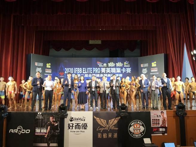 全國健身健美錦標賽23日於台北市立大學展開力與美的爭奪戰。(中華民國健美協會提供)